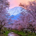 0Beautiful-Sunset-at-Mount-Fuji-on-Honshu-Island-Japan